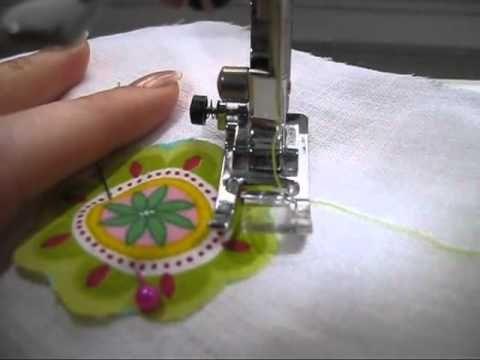 Apprendre a des appliqués de tissus en moins de 5 minutes - YouTube