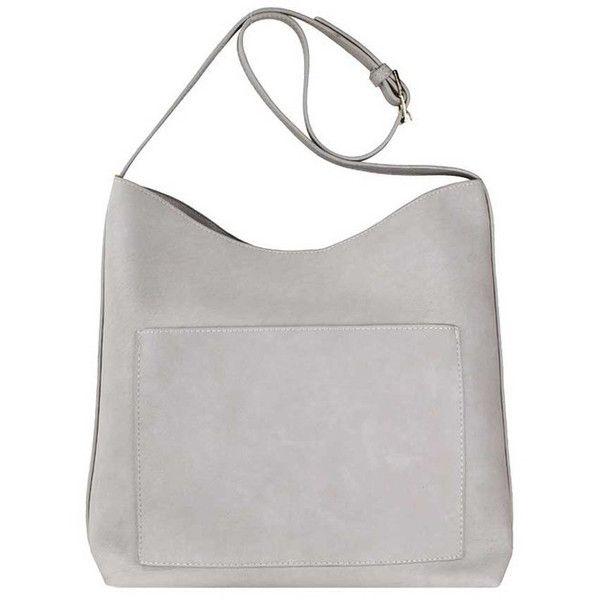 Luna Stone Hobo Handbag (€52) ❤ liked on Polyvore featuring bags, handbags, shoulder bags, stone handbags, handbag purse, white shoulder bag, shoulder handbags and hobo purses