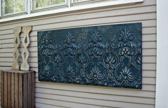 Antique Ceiling Tin Tile Vintage Architectural Salvage