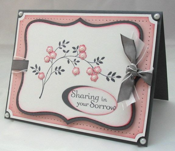 Very pretty.Sentimental Cut, Beautiful Cards, Cards Ideas, Sympathy Cards, Note Die, Cards Lik, Paper Crafts, Cut Outs, Tops Note