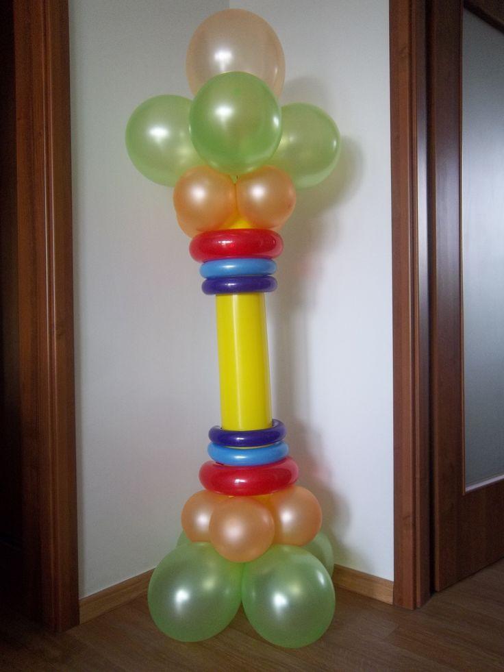 Balónový stĺp bez konštrukcie interiér