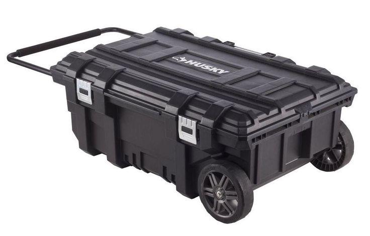 Husky Mobile Rolling Portable Tool Storage Chest Toolbox Organizer Job Box #Husky