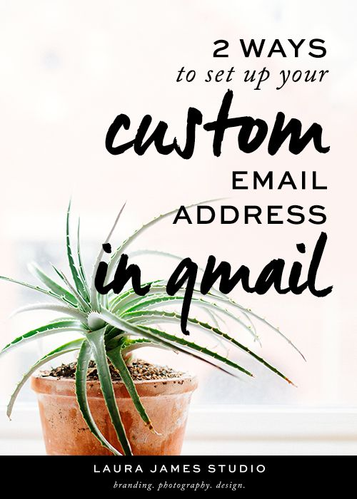 Learn how to set up your own custom URL email address two different ways using gmail and google for business by Laura James Studio