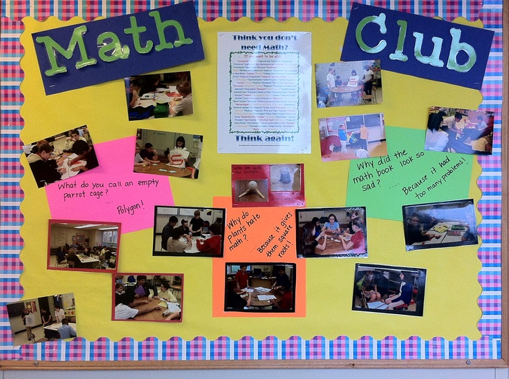 Math Club Bulletin Board Bulletin Board Ideas Math