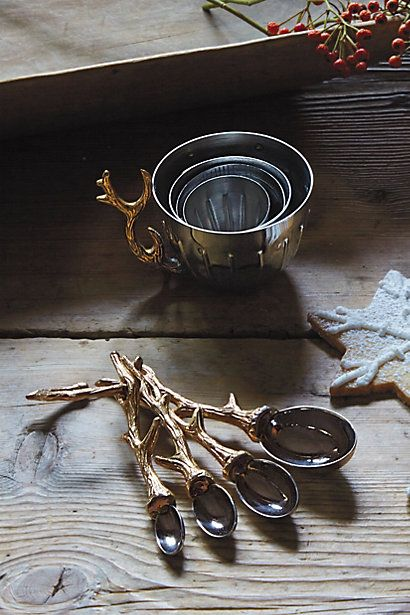I'm addicted to measuring cups, but no plastic allowed! Here cozy Nordic Elk Measuring Cups awesome for DIY #spa recipes #anthroregistry anthropologie.com