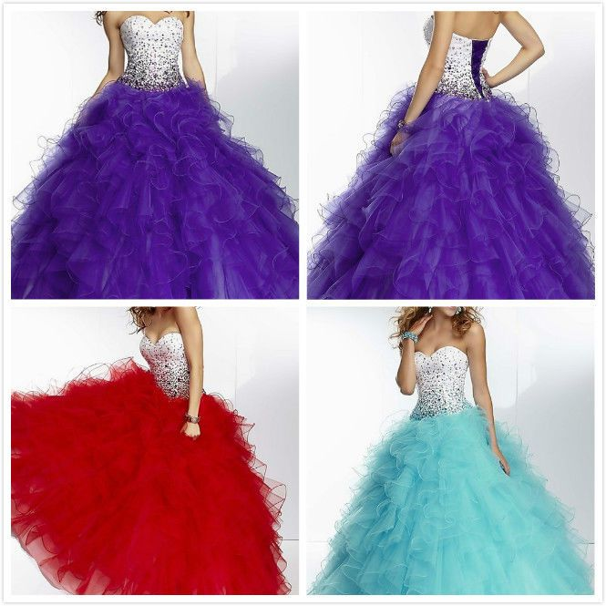 New Elegant Quinceanera Dress Pageant Dress Prom Ball Bridal gowns Custom Size