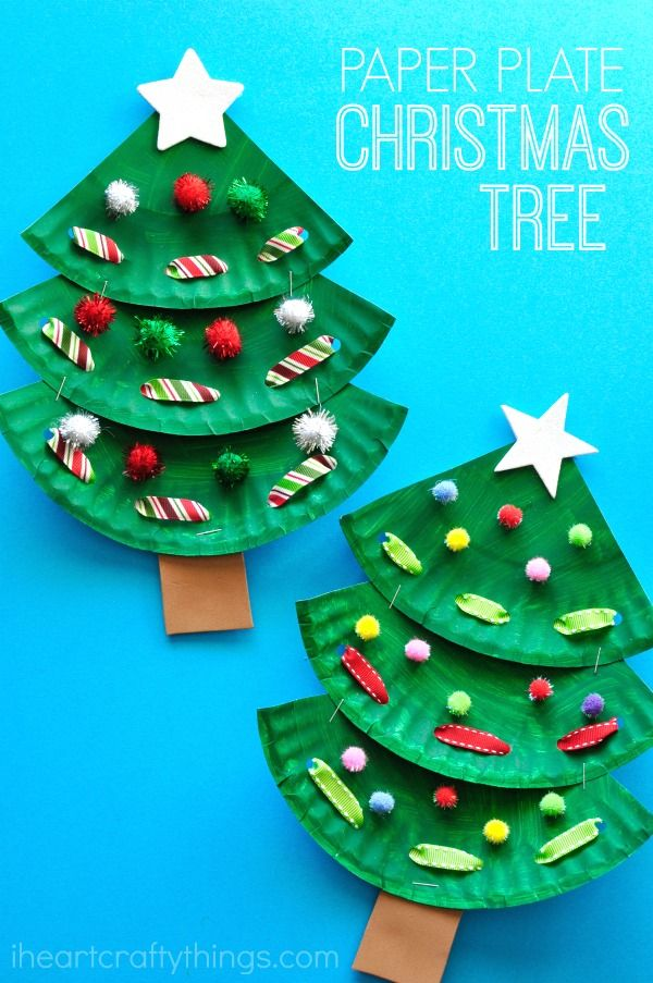 Christmas Preschool Art Projects.Paper Plate Christmas Tree Craft Christmas Preschool