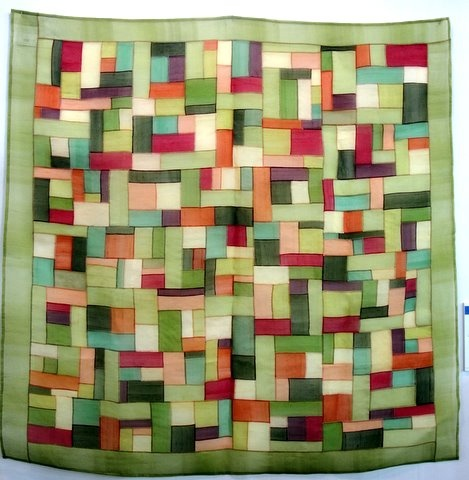 Love these colors.  Pojagi, Korean-style patchwork, in silk fabrics. Hand sewn.    The Spirit of Spring, Young-Ju, Lee (Korea)