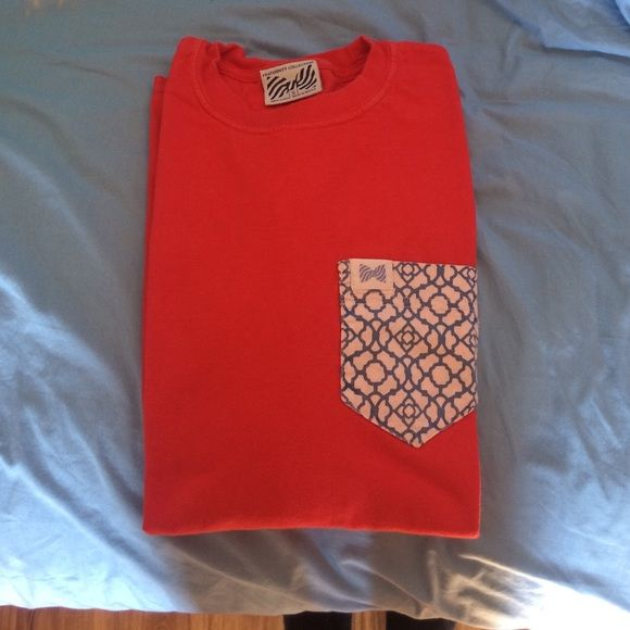 Fraternity collection long sleeve red t shirt Awesome condition and very comfortable! Fraternity collection Tops Tees - Short Sleeve