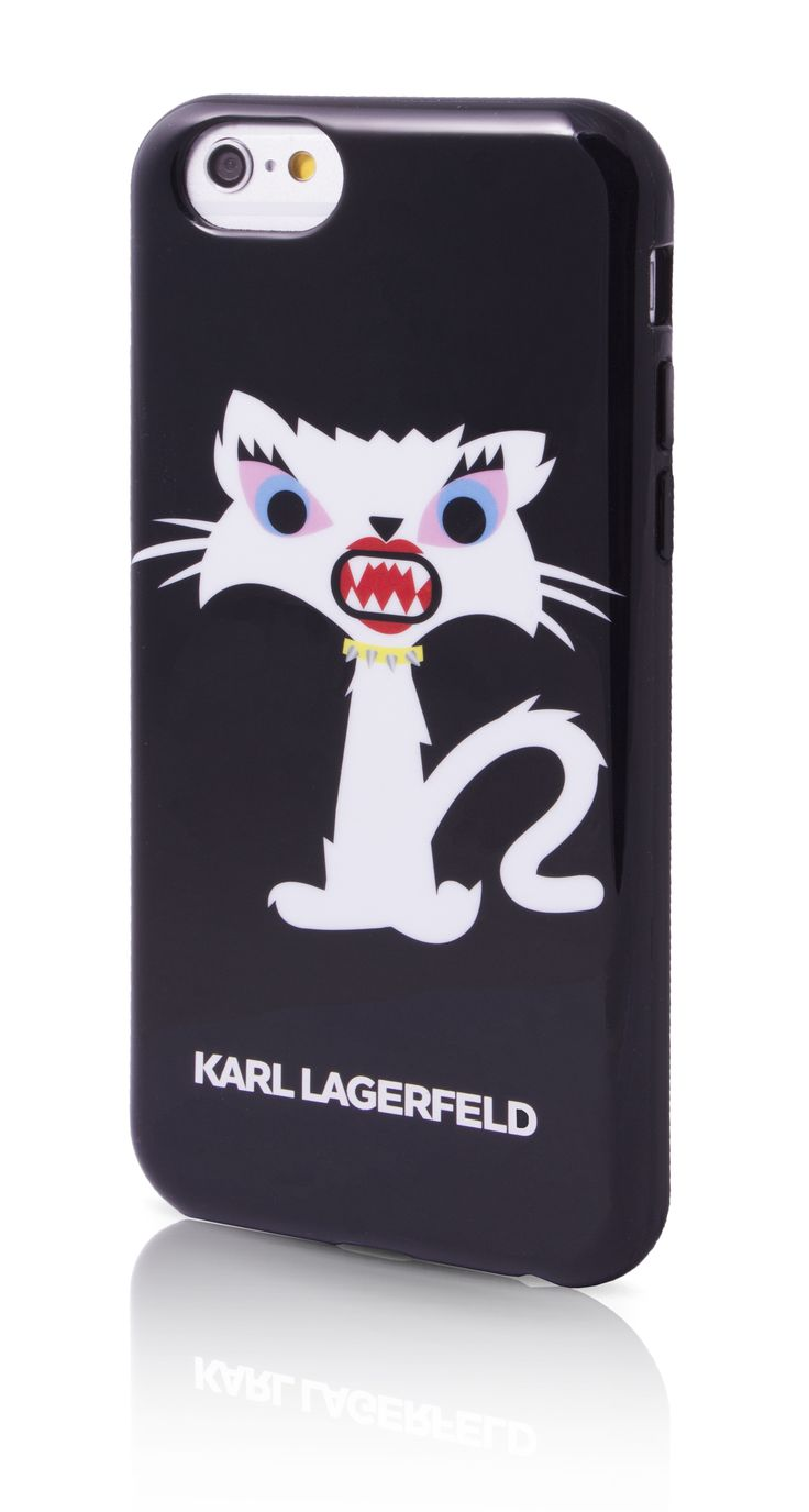 Karl Lagerfeld iPhone 6/6S case - Monster Choupette - Black. #iphonecase #designerphonecase