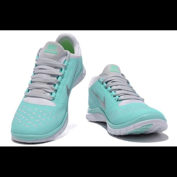 "NEW Women's Nike Free Run 3.0 ""Tiffany Blue"" colored. Very rare color and hard to find. NEVER WORN BRAND NEW. Doesn't come with a box. Nike Shoes Sneakers"
