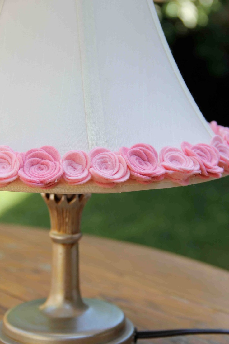 Pink Rose Bell Lamp Shade by byAllySen on Etsy, $50.00