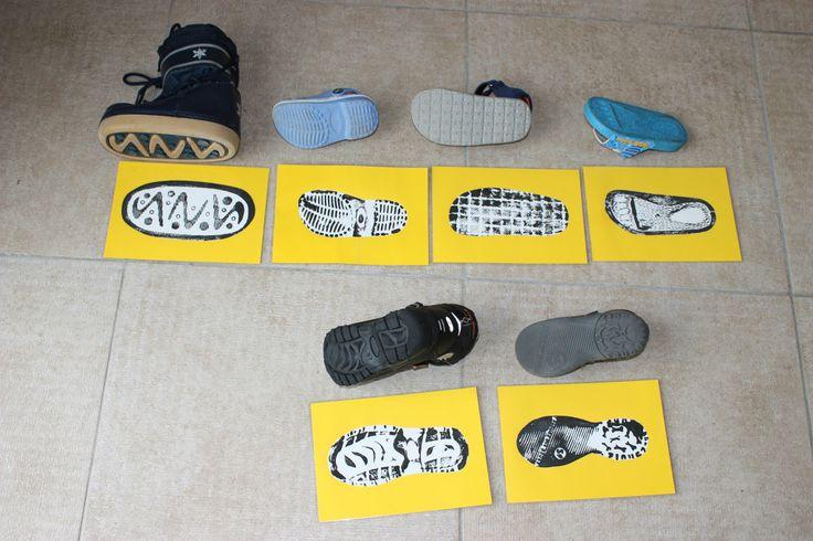 thema schoenen, juiste voetafdruk vinden