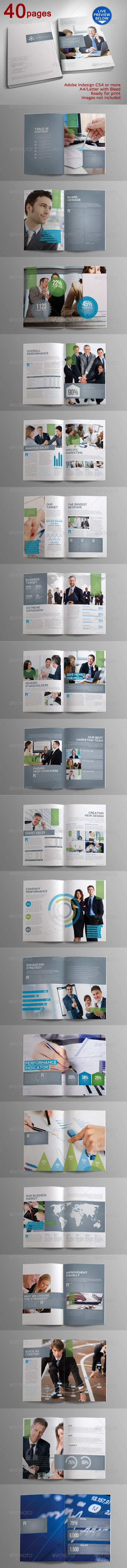 40 Pages Indah Corporate Brochure - GraphicRiver Item for Sale