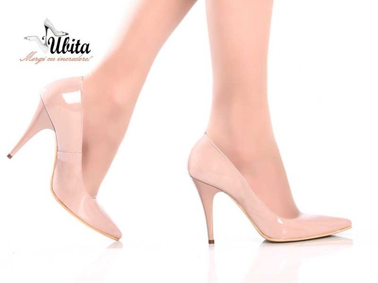 Poze Pantofi din piele 100% naturala toc Francesca