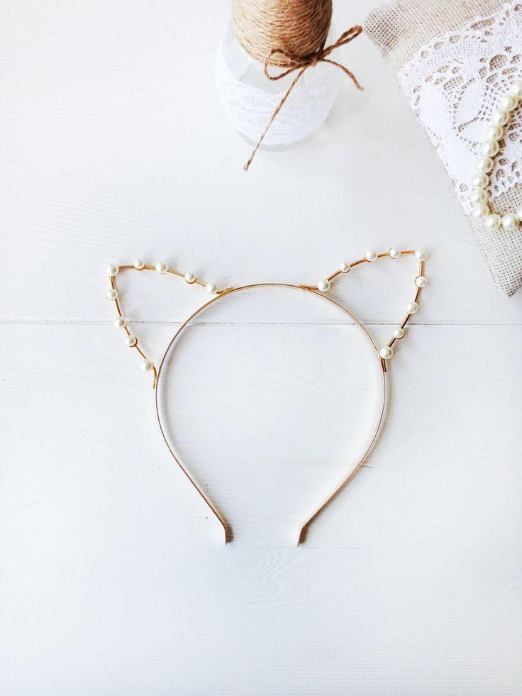 Oro o plata perla orejas diadema - orejas de gato - gato de cristal oídos - traje del gato - Cosplay gato orejas - orejas de gatito - gato la venda de gato de MissCocoBoutique en Etsy https://www.etsy.com/es/listing/240045656/oro-o-plata-perla-orejas-diadema-orejas
