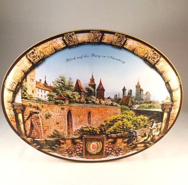 Spectacular Detalles acerca de Nurnberg Germany Lebkuchen Schmidt Oval Cookie Biscuit Tin Design RARE Retired