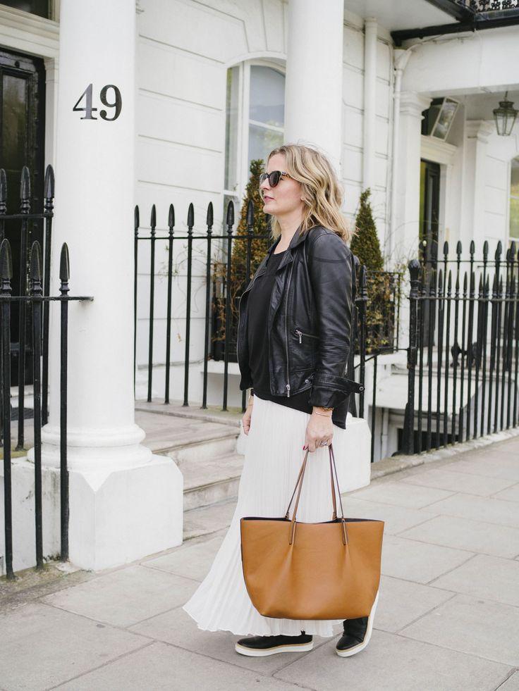 The London Stylish wearing JV White Maxi Skirt