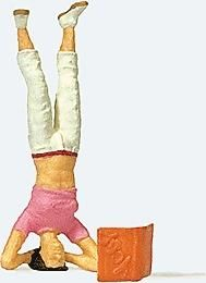 Individual Figure -- Headstand - HO-Scale (psr29090) Preiser HO Scale Model Railroad Figures