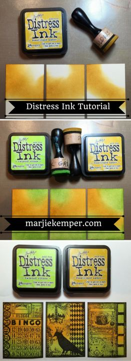ATC Tutorial with Distress Inks (Marjie Kemper Designs)