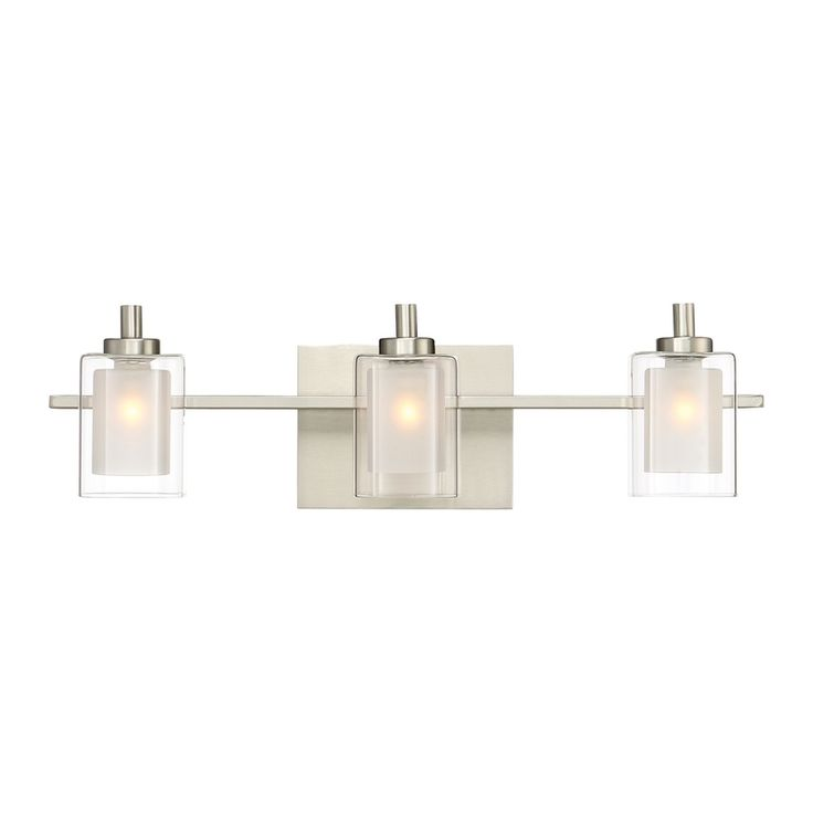 Quoizel Kolt 3 Light 6 In Brushed Nickel Cylinder Vanity