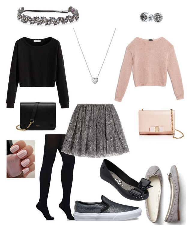 """Christmas Eve Outfit Ideas"" by rainbowfra on Polyvore featuring Max&Co., Wolford, Vans, Gap, RED Valentino, Melissa, Deepa Gurnani, Salvatore Ferragamo, Mulberry and Bling Jewelry"