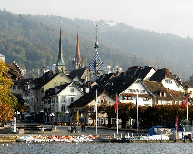 zug switzerland | Zug Old Town, Lake Zug, Switzerland