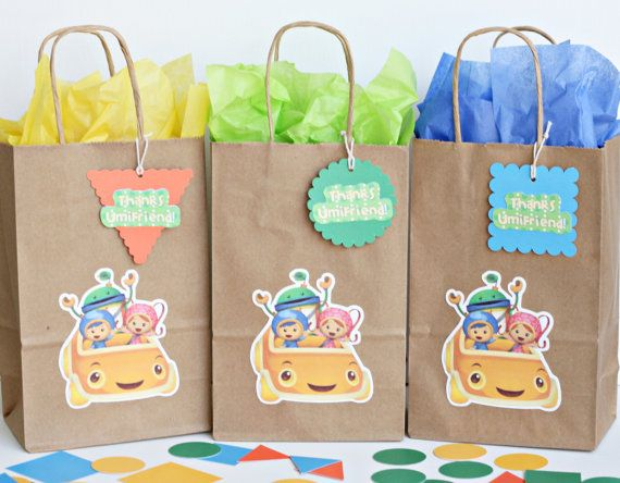 Team Umizoomi birthday party goody bags / READY-MADE / set of 12