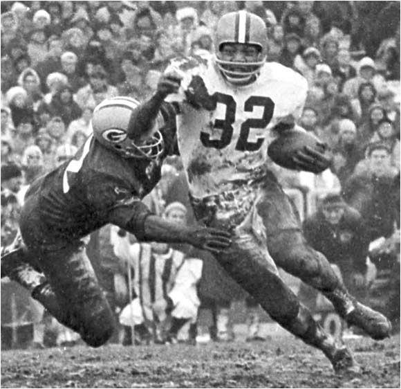 Jim Brown All-American in lacrosse & football - RB Cleveland Browns - Greatest Pro Football Player