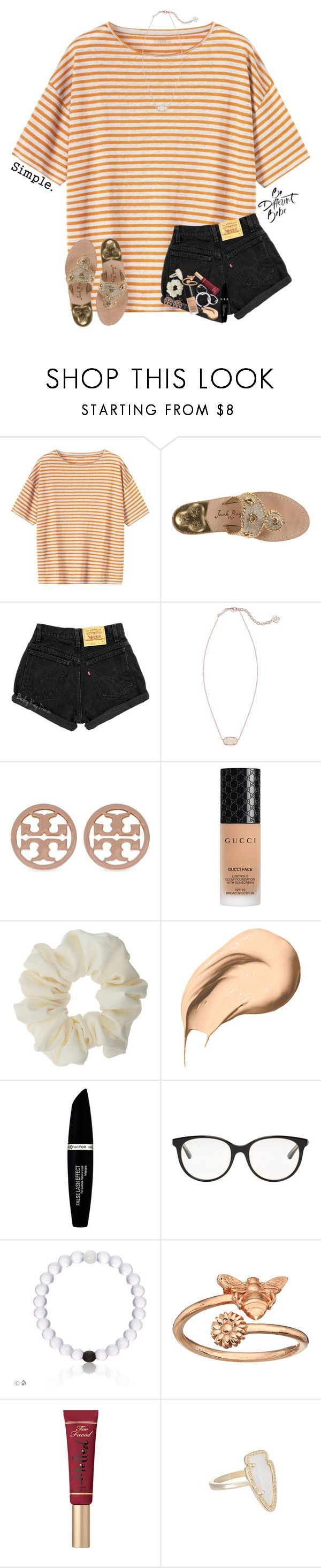 """""""focus"""" by elliegracee ❤ liked on Polyvore featuring Toast, Jack Rogers, Kendra Scott, Tory Burch, Gucci, Miss Selfridge, Bobbi Brown Cosmetics, Max Factor, Christian Dior and Alex and Ani"""