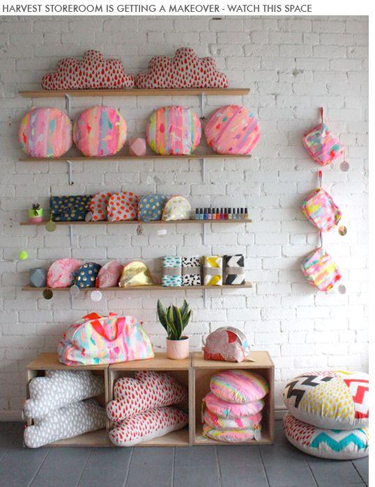 Colourful print pillows - Harvest Textiles