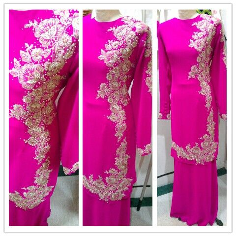 Kurung moden for wedding. View more of my work at www.facebook.com/pages/Beads-n-Blings/269442733182699
