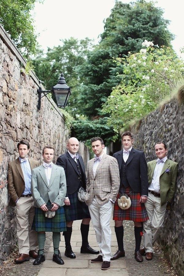 Nothing says a Scottish wedding like some men in kilts!  Photo:  Craig & Eva Photography