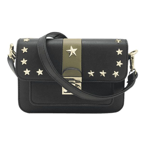 Rivets Stars Striped Crossbody Bag ($30) ❤ liked on Polyvore featuring bags, handbags, shoulder bags, striped handbag, striped shoulder bag, stripe purse, cross-body handbag and crossbody shoulder bag