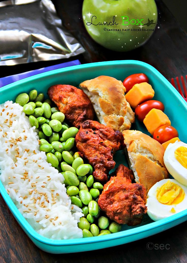 Lunch Box: Rice Mukimame Chicken Wings #homemade #lunchbox #bento