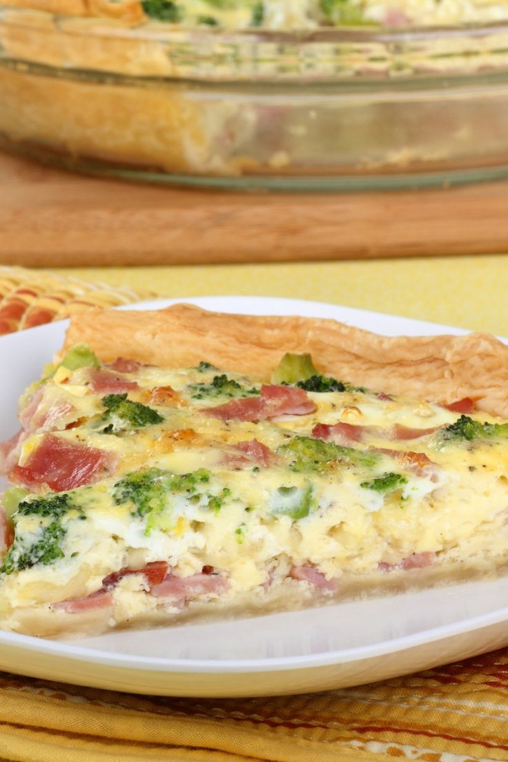 Ham and Broccoli Quiche Recipe