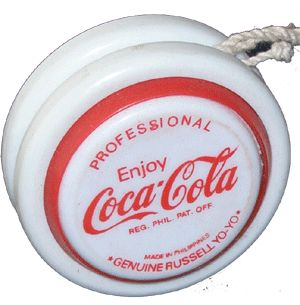 Everyone had to have a Coke YoYo.  And if you had the one that lit up when it span, you were WAY cool
