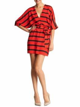stripe wrap dress / Collective Concepts