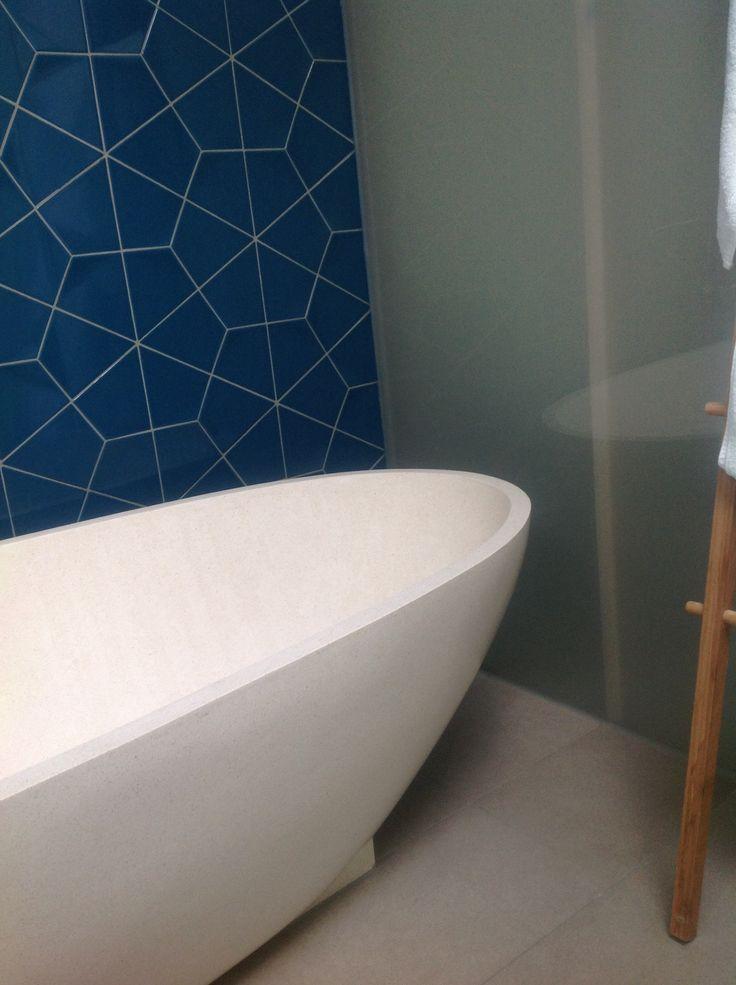 Blue bathroom tiles in mornington apartment ...   Bathroom ...