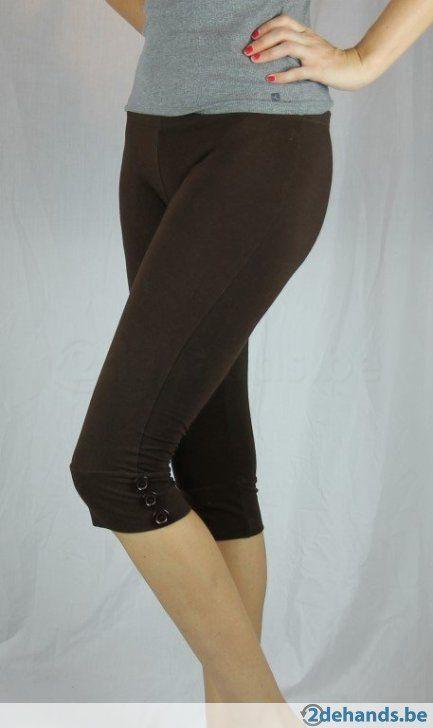 Bruine korte legging - Maat large