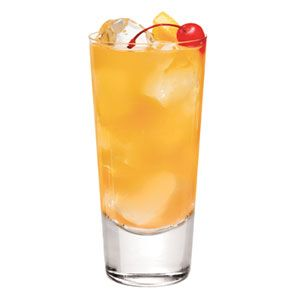 Smirnoff Passion Fruit Punch- With passion fruit-flavored vodka and a festive combination of fruit juices, this party punch crowd-pleaser stands out from the usual cocktail offerings.