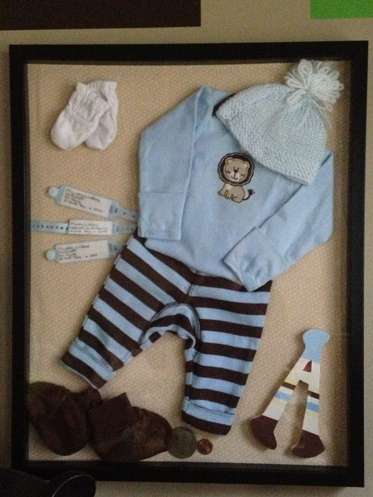how to make a baby boy shadow box