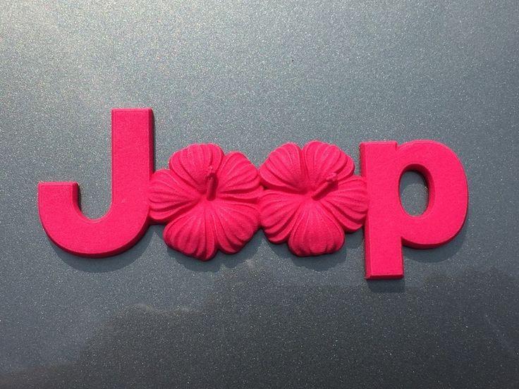 Cuz it's Custom's Island Flowers Emblem for Jeeps