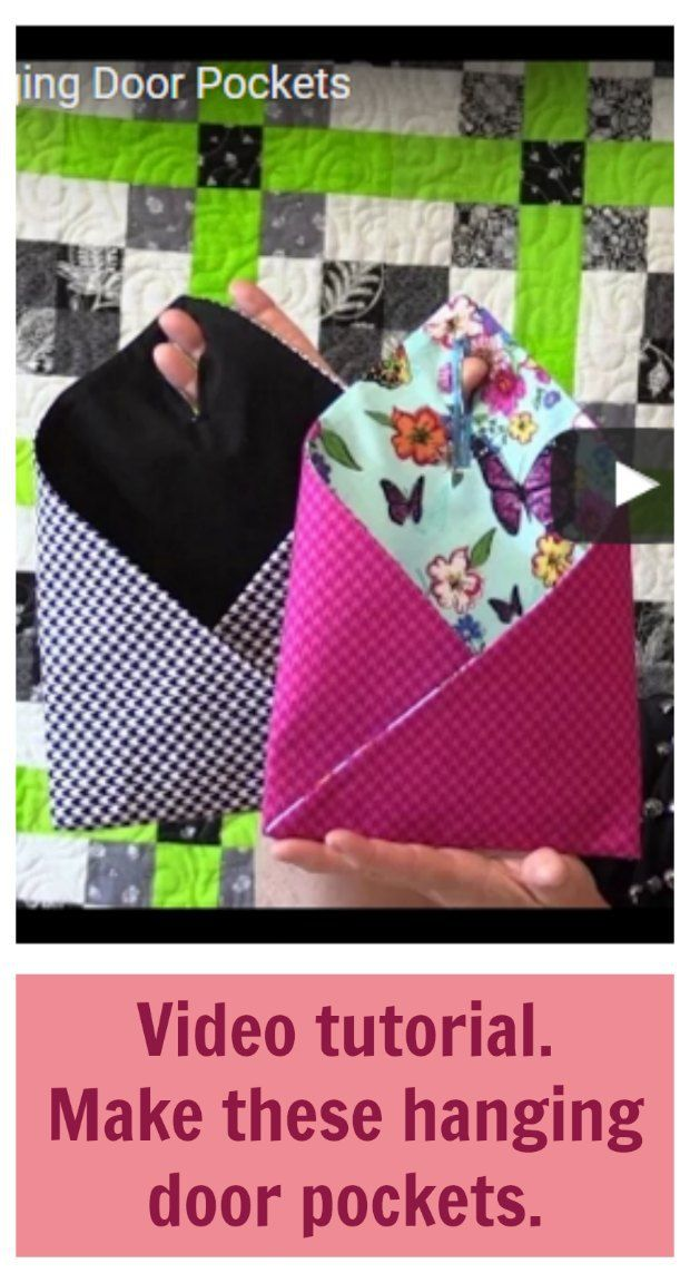 Sew these handy door pockets – video