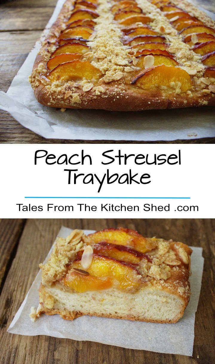 Peach Streusel Traybake is a yeast cake with a cinnamon crumble & juicy peach topping. Delicious on its own or served warm with a dollop of cream…