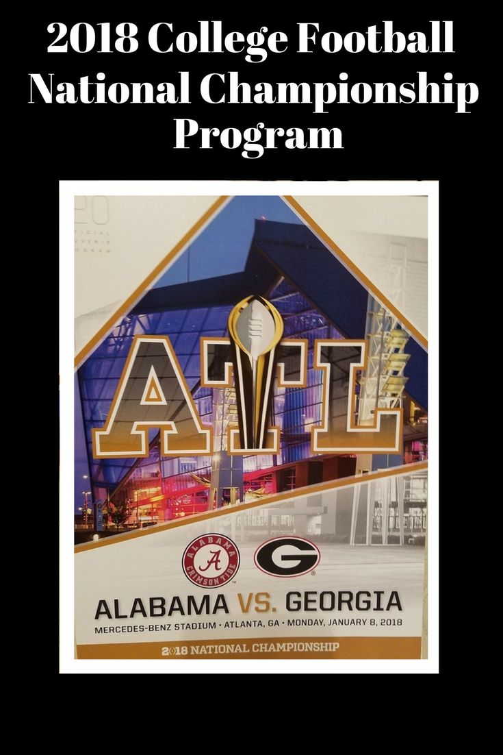2018 College Football National Championship Program - Mint condition from Box #CFP