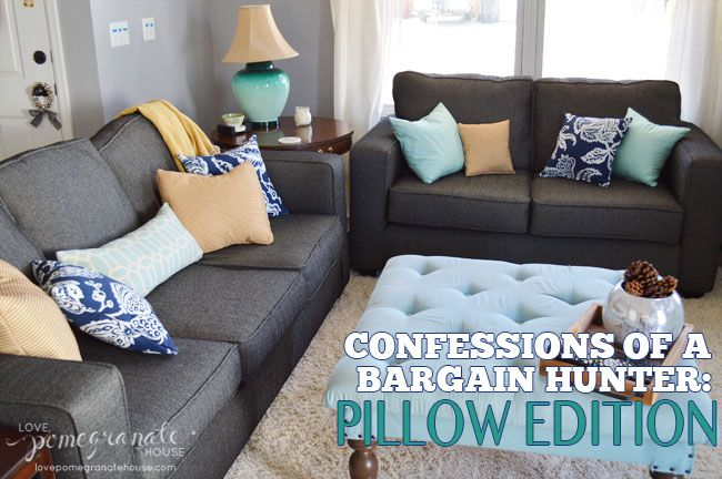 Confessions of a Bargain Hunter: Pillow Edition || Where to Find Cheap Pillows || Love, Pomegranate House