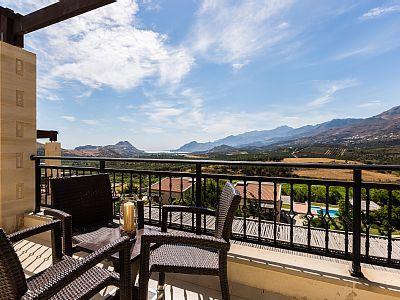 Rethymno villa rental - Shaded sitting area!