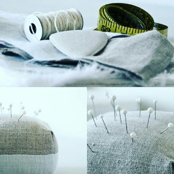 A few of my favourite things, pin cushions, linen, thread, pins!