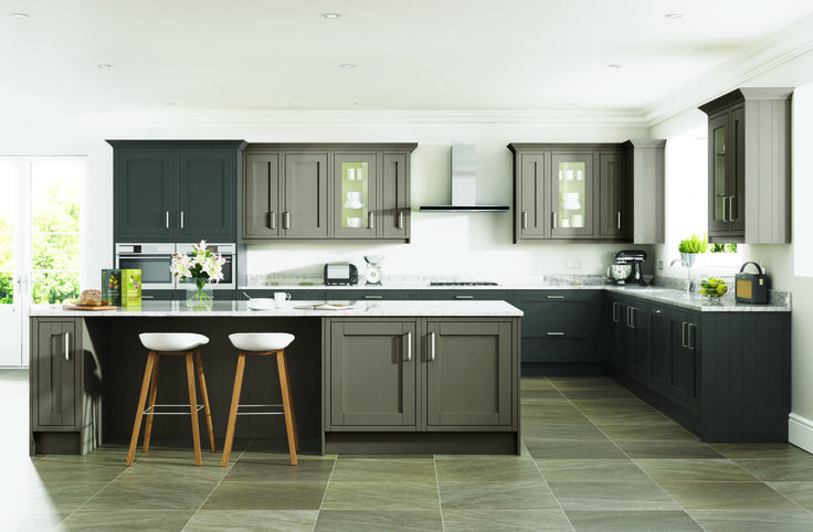 New England Taupe & Black http://www.academyhome.co.uk/products/kitchens/kitchen-ranges/timeless